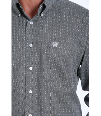 Cinch Classic Charcoal Geo Print Tencel