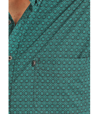 Panhandle Slim Tuf Cooper Teal Print Button Down