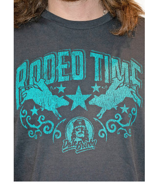 Panhandle Slim Rodeo Time Teal Tee
