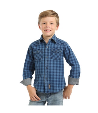 Wrangler Wrangler Retro Navy Plaid Kids