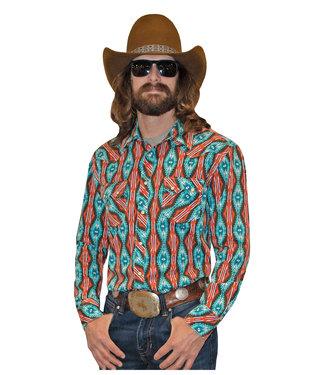 Panhandle Slim Dale Orange & Blue Aztec