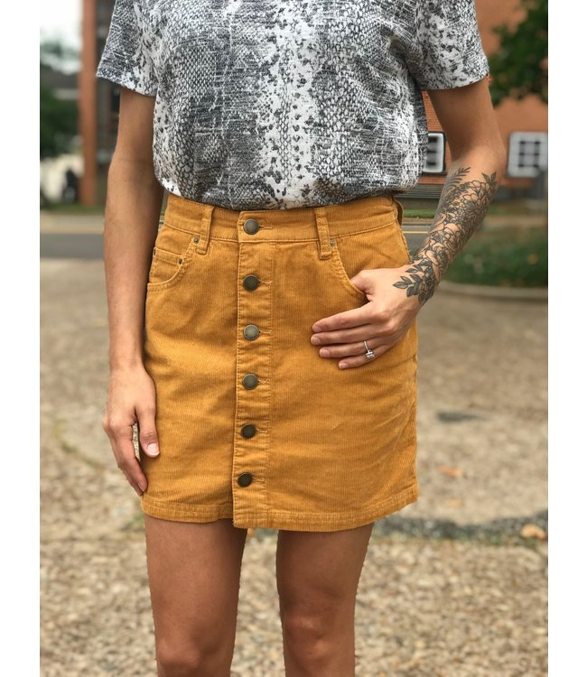 billabong Good Life Cord Skirt