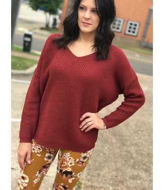 Panhandle Slim Wine Lace Up Sweater