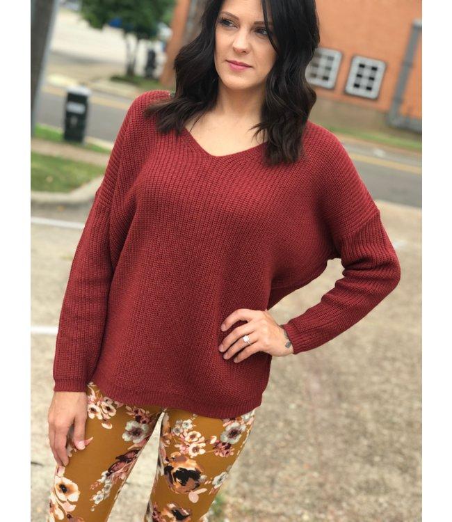 Panhandle Slim Wine Lace Up Sweater