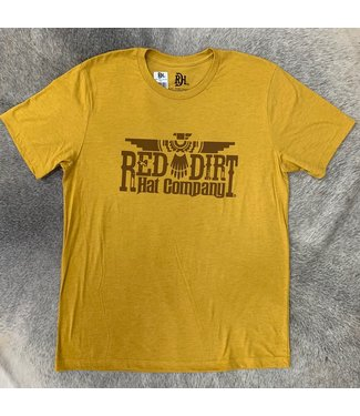 Red Dirt Hat Co Thunderbird T Shirt Mustard