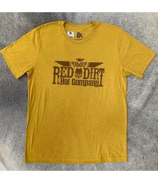 Red Dirt Hat Co Thunderbird T Shirt Mustard