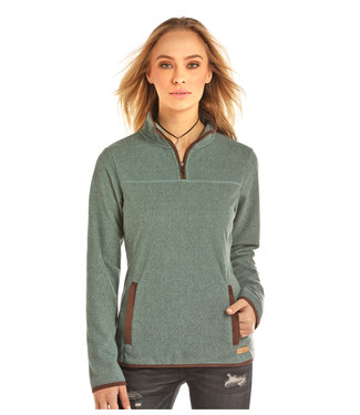 Panhandle Slim 51B2651 LADIES LS 1/4 ZIP