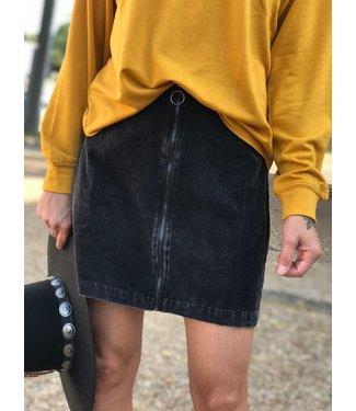 Sadie & Sage Washed Cord Mini Skirt