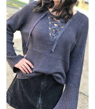 Panhandle Slim Charcoal Laced Sweater