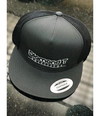 Diamond T Outfitters Retro Grey Flat Bill Cap
