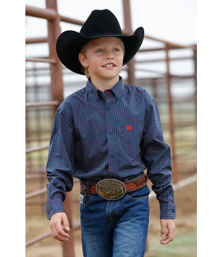 Cinch Boys Navy Print