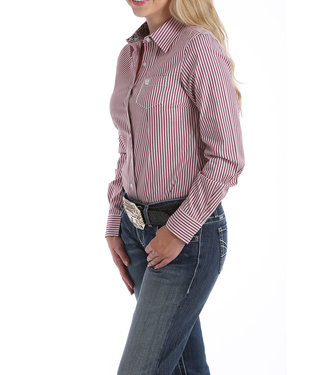 Cinch Womens Arena Stripe Button