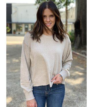 Z Supply The Triblend LS Cropped Tee