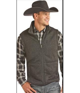 Panhandle Slim Black Heather Sweater Vest