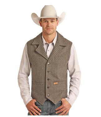 Panhandle Slim Mens Wool Stripe Mauve Vest