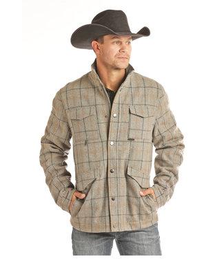Panhandle Slim Powder River Wool Plaid Coat