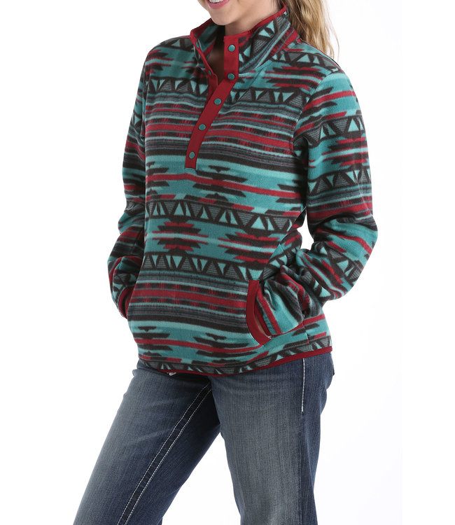 Cinch Printed Fleece Pullover MAK9820001