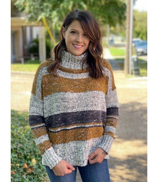 By Together Camel Multi Sweater L3173