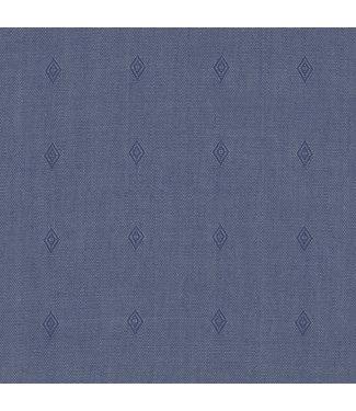 Wrangler Easy Care Solid Blue Woven