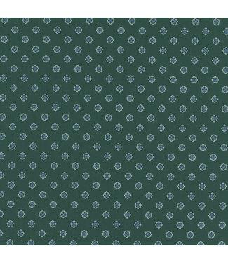 Wrangler Geroge Emerald Tiny Print Button Down