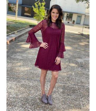 Wrangler Merlot Lace Dress