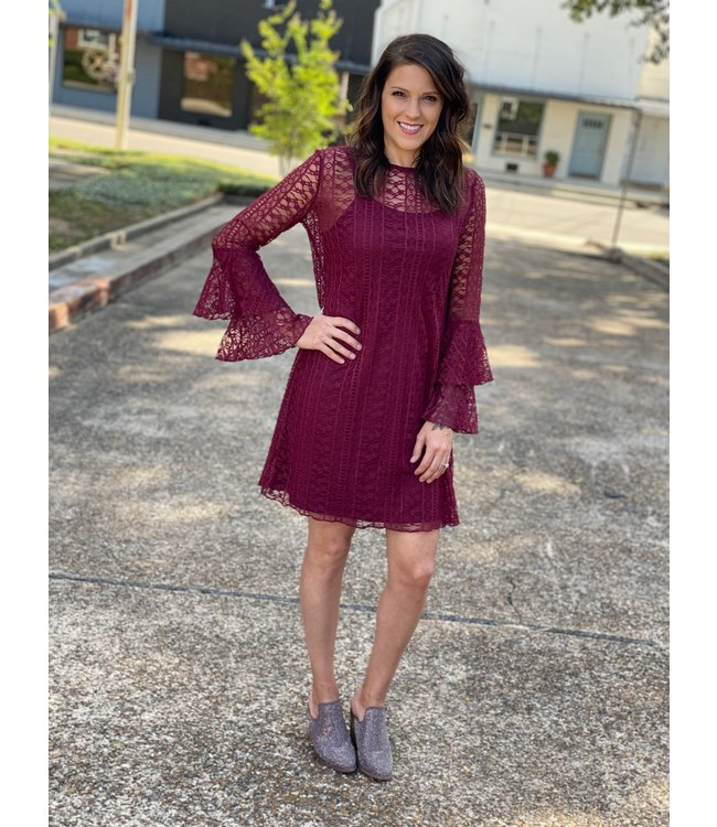 Wrangler Merlot Lace Dress