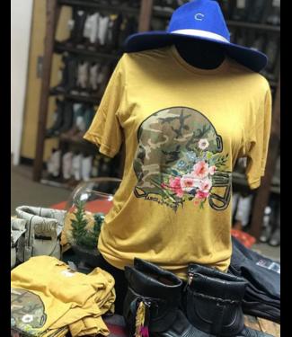 Ranch Swag Mustard Floral Vintage Helmet Tee