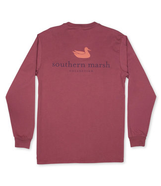 Southern Marsh Long Sleeve Authentic Wine Tee