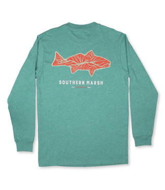 Southern Marsh Long Sleeve Delta Fish Tee