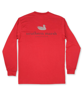 Southern Marsh Long Sleeve Authentic Rust Tee