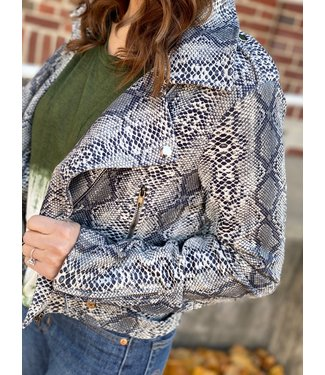 FC-692 Snake Print Faux Suade Jack