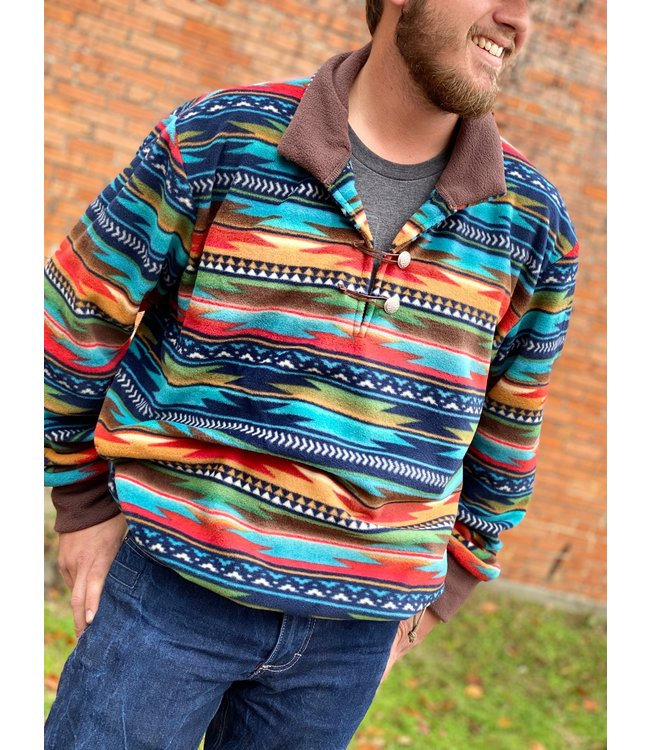 Western Wits Serape Sunset Pullover