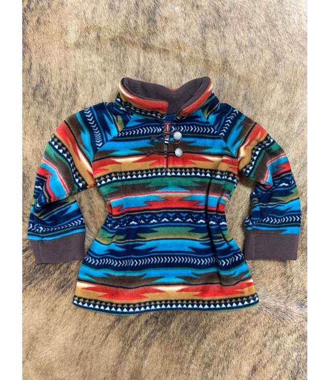 Western Wits Youth Serape Sunset Pullover