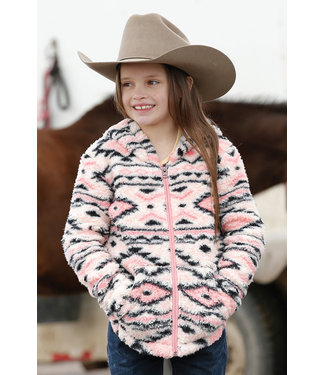 Cinch Girls Aztec Hooded Jackets CWK8320001