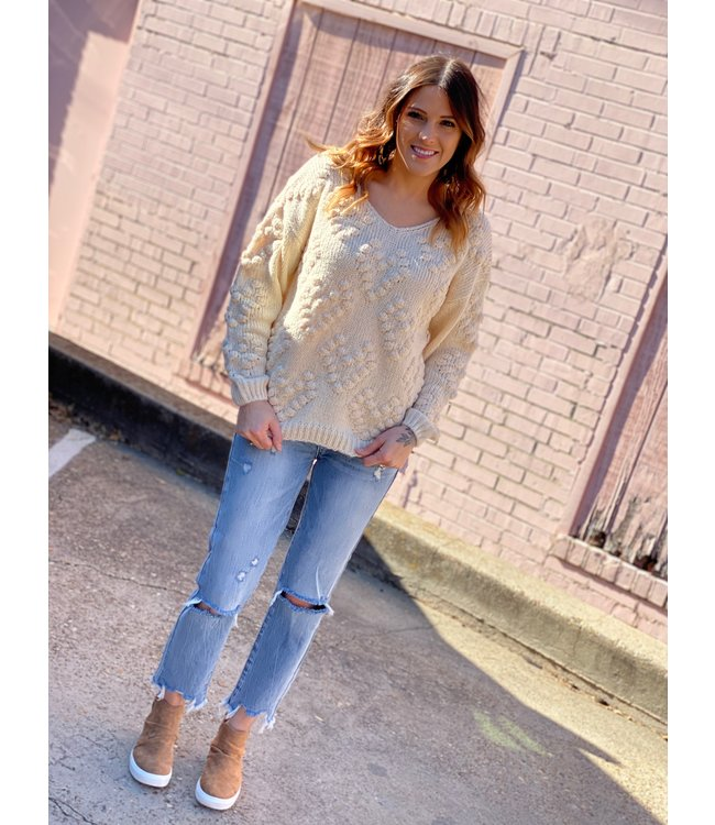 Diamond T Outfitters Cream Sweater