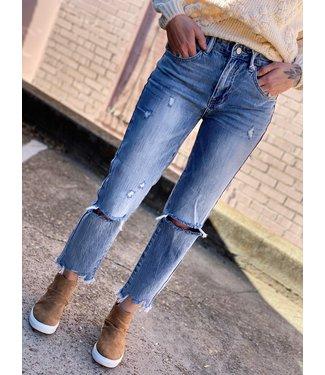 Diamond T Outfitters Slim Fit Boyfriend Distressed Jean
