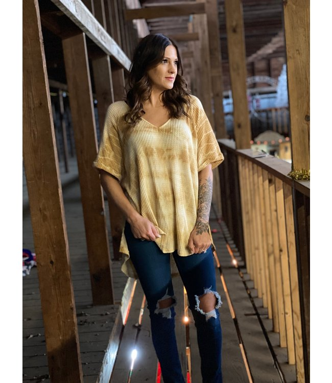 By Together Dusty Mustard Oversized Tee