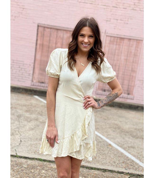 The Linen Wrap Dress