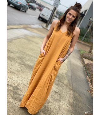 By Together Mustard Maxi Dress