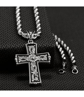 M&F Western Men's Twister Antique Cross