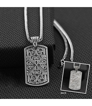 M&F Western Twister Dog Tag Men's Necklace