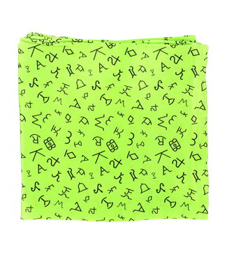 Diamond T Outfitters Wild Rags 33x33 Branded Neon Green