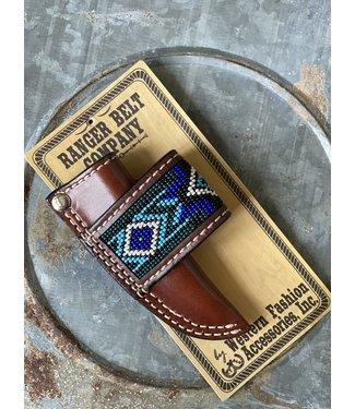 Western Fashion Accessories Blue Bead Sheath Dark