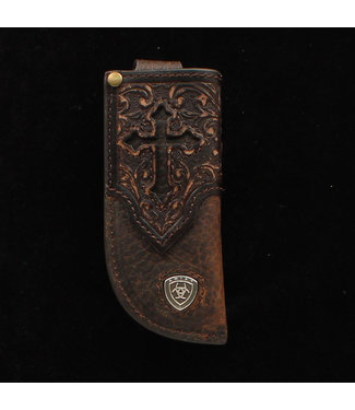 M&F Western Ariat Leather Sheath Cross + Tooled