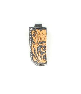 M&F Western Black & Natural Floral Knife Sheath