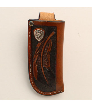 M&F Western Ariat Feather tooled Knife Sheath