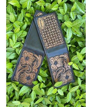 Van Curen Leather Van Curen Black Custom Front Pocket Wallet