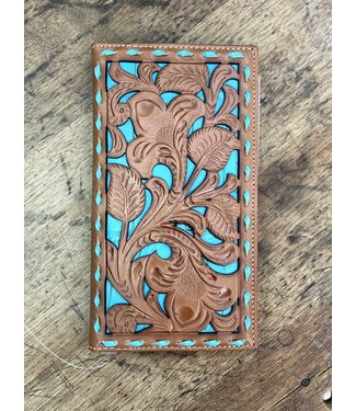 M&F Western Nocona Rodeo Wallet Turquoise Croc
