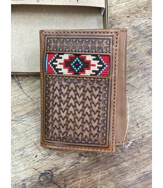 Ariat Intl Ariat Trifold Basketweave Woven Wallet
