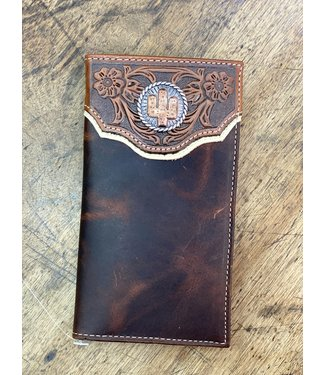 Nocona Rodeo Wallet Distressed Cactus Concho